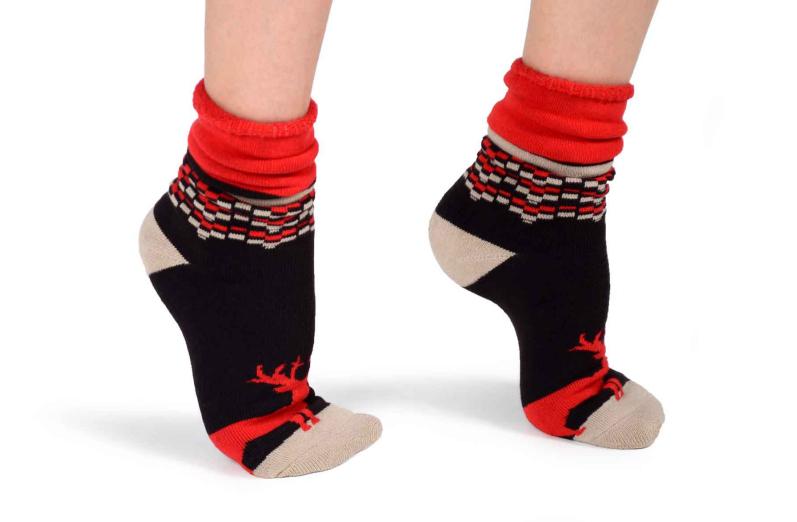3073cab294d Ponožky zdravotní z bambusového a měděného vlákna se vzorem